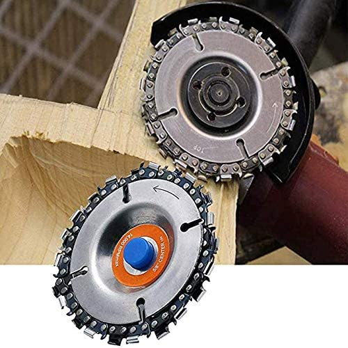 """Wood Milling And Carving Rotary Planer Chain Disc For 4/"""" Angle Grinder Quality"""