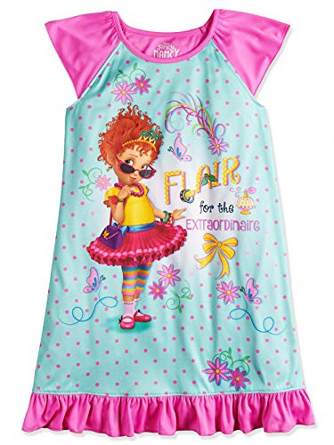 Disney Fancy Nancy Girl's Dorm Nightgown Pajamas (4, Blue/Pink) -