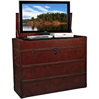 Leather Steamer Truck Style TV Lift Cabinet for 32 - 47 TVs (AT006197)