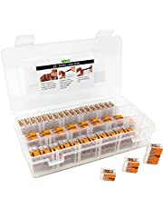 WAGO 221 LEVER-NUTS 78pc Compact Splicing Wire Connector Assortment with Case. Includes (34x) 221-412, (26x) 221-413, (18x) 221-415