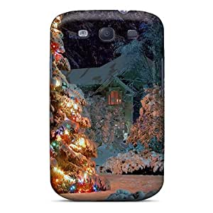 New Arrival Case Cover With VpAAb2542SNPkI Design For Galaxy S3- Outdoor Christmas Tree