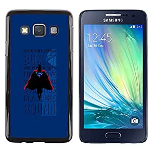 LECELL--Funda protectora / Cubierta / Piel For Samsung Galaxy A3 SM-A300 -- Bullet Flying Text Comic Character --