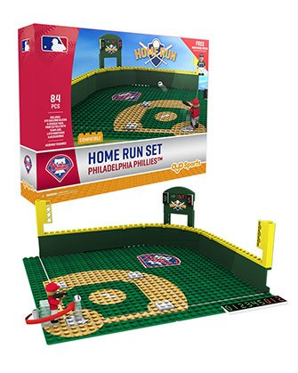 Oyo Sportstoys MLB Philadelphia Phillies Home Run Derby Set with Minifigure, Small, White - Philadelphia Phillies White Baseball