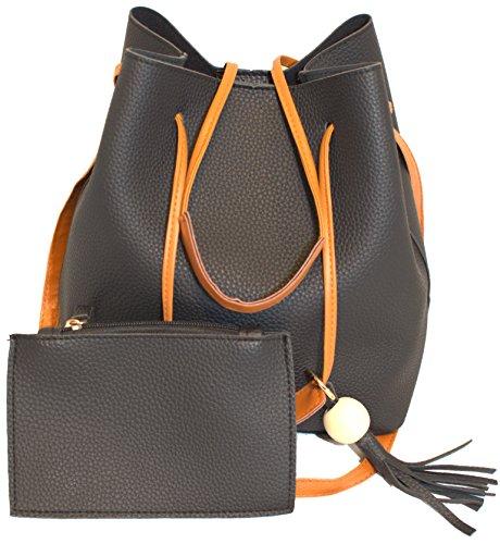 Price comparison product image Buka Tassel Women's Handbag Modern Purse Crossbody Tote Shoulder Bag Phone Makeup Sunglasses Wallet