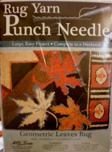 MCG Textiles Geometric Leaves Rug Yarn Punch Needle Kit by MCG Textiles