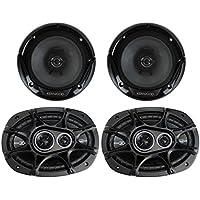 2) Kicker 41DSC6934 6x9 360W 3-Way + 2) KFC-1665S 6.5 300W 2-Way Car Speakers
