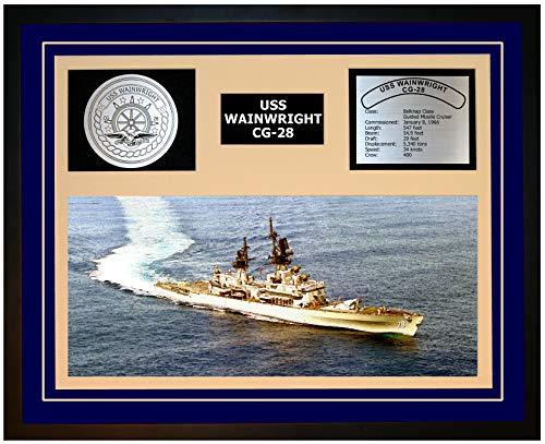 Navy Emporium USS Wainwright CG 28 Framed Navy Ship Display Blue