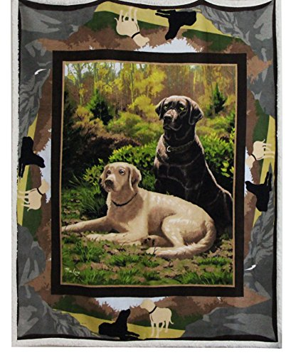 Best Token Soft Warm Throw Blanket Fleece Sherpa Air Quilt Bedding for Bed, 50-by-60-Inch - Labrador Buddies
