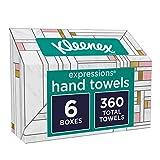 Kleenex Hand Towels, Disposable Hand Paper Towels, 60 Towels per Box, 6 Pack (360 Towels Total)