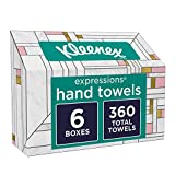 Kleenex Expressions Hand Towels, Disposable Hand Paper Towels, 60 Towels per Box, 6 Pack (360 Count Total): more info