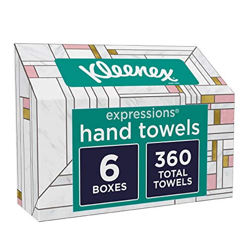 Kleenex Hand Towels, Disposable Hand Paper Towels, 60 Towels per Box, 6 Pack (360 Towels Total)