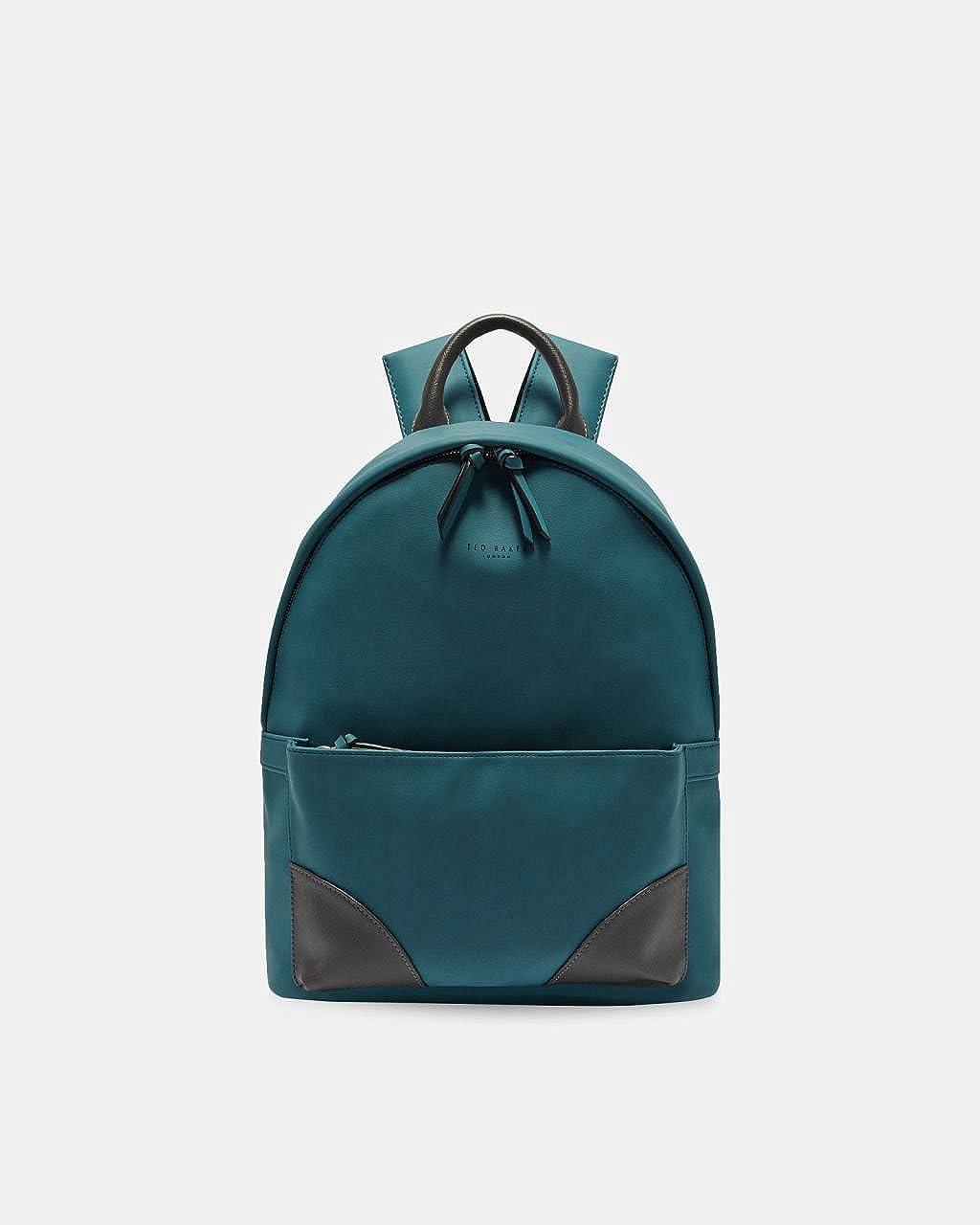 (テッドベーカー) TED BAKER LONDON Men`s Passed Faux nubuck backpack メンズ合格フォックスヌバックバックパック(並行輸入品) One Size Teal B07BDJ4QPJ