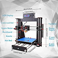 Perfect-Office 3D Printer DIY i3 MK8 High Precision Self-Assembling Nozzle Desktop DIY 3D Printers with 1.75mm ABS/PLA Filament, Print Size (200 200 180mm) by Perfect-Office