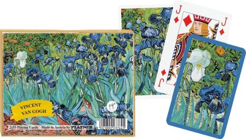 Piatnik Playing Playing Playing Cards - Van Gogh - Iris, double deck by Gibsons Games 995ebf