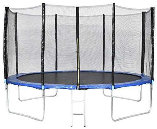 K&A Company 13ft Combo Bounce Jump Safety Trampoline with Spring Pad Ladder Outdoor New Play by K&A Company