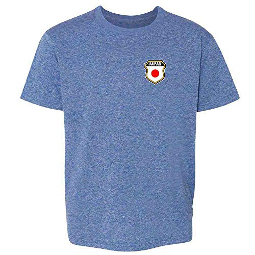 Japan Soccer Retro National Team Heather Royal Blue XL Youth Kids T-Shirt