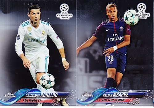 2018 Topps Chrome UEFA Champions League Complete Soccer Set of 99 Cards from Topps Chrome UEFA Champio