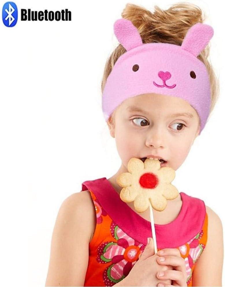 Charlxee Kids Bluetooth Headphones Children Girls Boys Teens Volume Limiting Foldable and Durable Headphone Headband for School, Home and Travel - Pink Bunny