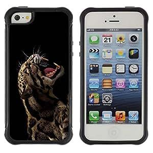 LASTONE PHONE CASE / Suave Silicona Caso Carcasa de Caucho Funda para Apple Iphone 5 / 5S / Rawr Roar Leopard Animal Fierce