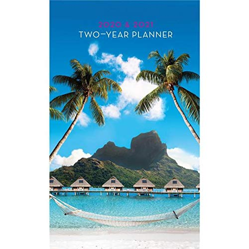 """Graphique 2020 Island Paradise 2 Year Planner - 29-Month Planner in 4 Languages, Includes Notes, Reference Pages, Public and Culturally Significant Holidays, 3.75"""" x 6"""""""