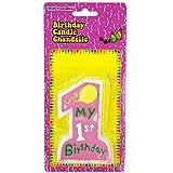 Kole Imports PB744 N/A Pink My 1st Birthday Candle
