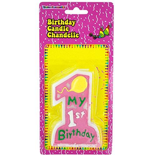 Rosa Mi primer cumpleaños Vela - Paquete de 48: Amazon.es: Hogar