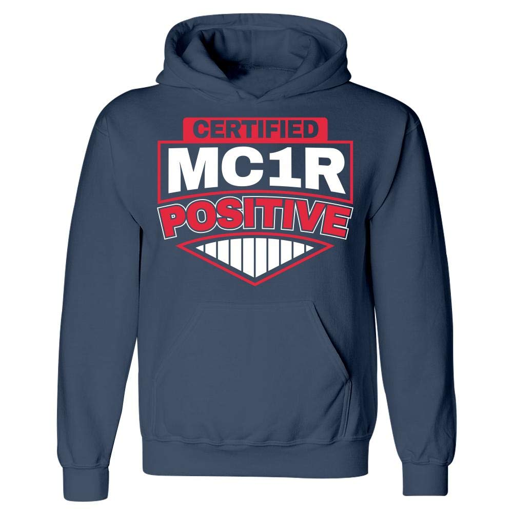 Hoodie Cute Certfied MC1R Positive Redhead Ginger Lover Design Men and Women Gift