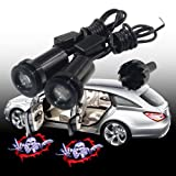 SHE'O® 1 pair of 3D Ground Angry Finger Up Bloody Skeleton Skull Car Door LED Welcome Logo Shadow Light Courtesy projection light Ghost Laser projector Lighting