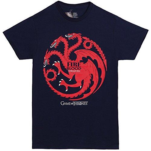 Game Of Thrones Targaryen Dragon Adult T-shirt - Blue (XXX-Large) (Dragon Girl Game Of Thrones)