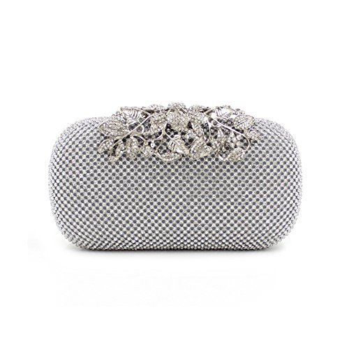 Rhinestone Handbag Party Glitter Vintage Bag Purse Clutch Wedding Women Bags Clubs Silver for Evening GSHGA axzIPI