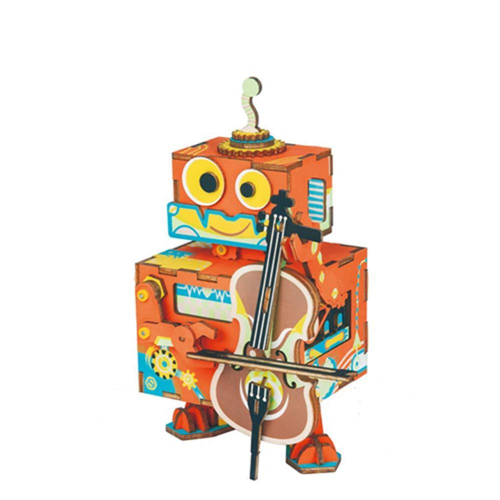 HWQ HWQ HWQ Juguete del Rompecabezas 3D, Caja de muacute;sica, Caja de muacute;sica, Artes de Madera, Haya, Rompecabezas 3D, Juguetes educativos, Regalos creativos (pequentilde;os Agentes) a4769e