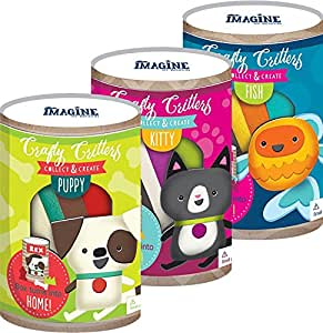 Bendon 41476 Crafty Critters Make Your Own Pet Kit, Assorted