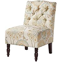 Madison Park FPF18-0171 Lola Tufted Armless Chair, 22.375 x 27 x 32.875, Multicolor