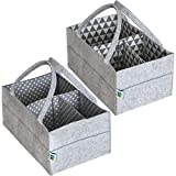 Crib with Drawers and Changing Table Baby Diaper Caddy Organizer Set of 2 – Nursery Basket with Handles – Baby Diaper Storage and Changing Table Organizer 2-Pack Perfect Baby Shower Gift Basket for Newborn Girls and Boys by Cartik-2pack