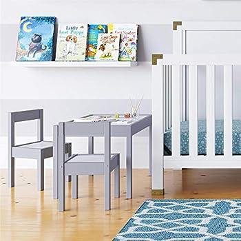 Amazon Com Melissa Amp Doug Solid Wood Table Amp Chairs Kids
