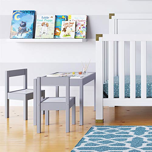 Baby Relax Hunter 3 Piece Kiddy Table and Chair Set, Gray]()