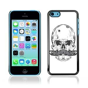 CQ Tech Phone Accessory: Carcasa Trasera Rigida Aluminio para Apple iPhone 5C - Cool Skull & Moustache