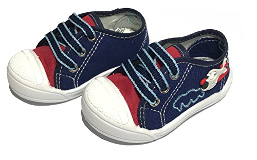Baby Boys Sneakers Little Airplane Shoes Made in Brazil BY JUST SAMBA (8, Navy (Brazil Airplane)