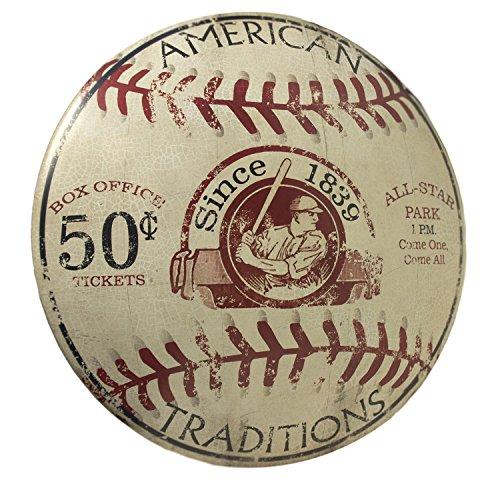 Vintage Baseball Dome Sign (Baseball Metal Sign)