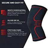 UFlex Athletics Knee Compression Sleeve Support for