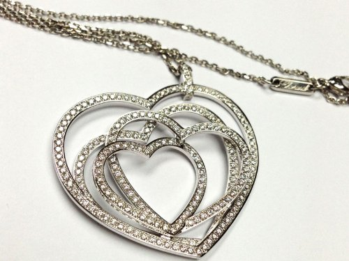 Chopard - Cuorissimo - 18k White Gold & Diamond Heart Pendant Necklace - MSRP $18,055
