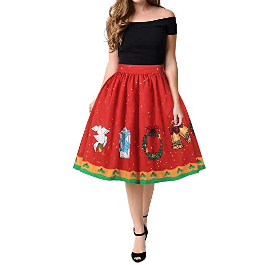 dbecf968d5f Amazon.com  CHIDY Women s Christmas Horn Dress Trend Party Holiday Dress  Tutu  Clothing