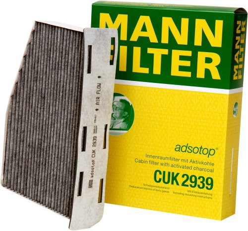 mann-filter-cuk-2939-cabin-filter-with-activated-charcoal-for-select-audi-volkswagen-models