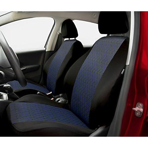 Housse de siège universelle PROFI pour FORD (Escort - Cougar - Fiesta - Focus - Fusion - Ka - Mondeo - Orion - Probe - Puma - Scorpio - Sierra) (Bleu)