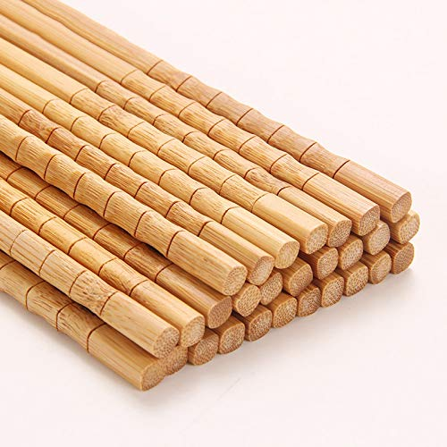 5 Pairs Bamboo Joint Chopsticks 24Cm Chinese Chopsticks Kitc