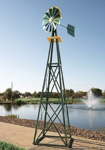 Ornamental Windmill, Metal Windmill Decor| 9 Ft. by By Outdoor Design (Image #1)