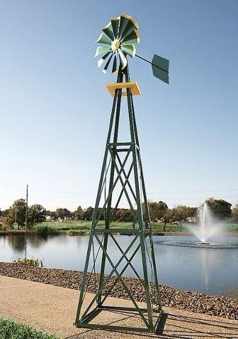 Ornamental Windmill, Metal Windmill Decor| 9 Ft.