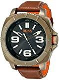 BOSS Orange Men's 1513164 Sao Paulo Gold-Tone Watch with Brown Leather Band