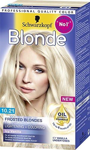 Schwarzkopf Blonde 10.21 Hielo de cristal Rubio Blanqueamiento hasta 4 peldaños, 1er Pack (1 x 145 ml)