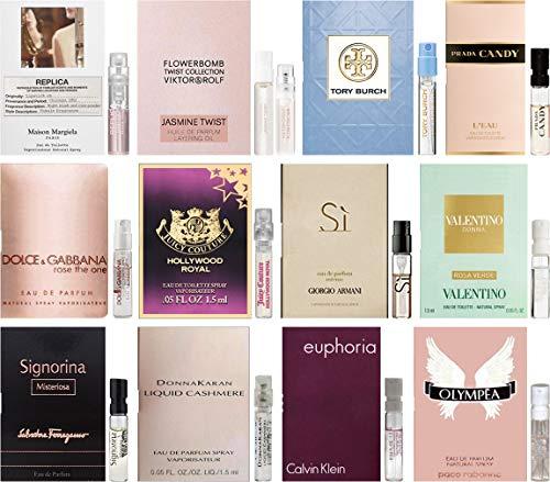 Designer Fragrance Samples for Women - Lot of 12 Perfume Vials